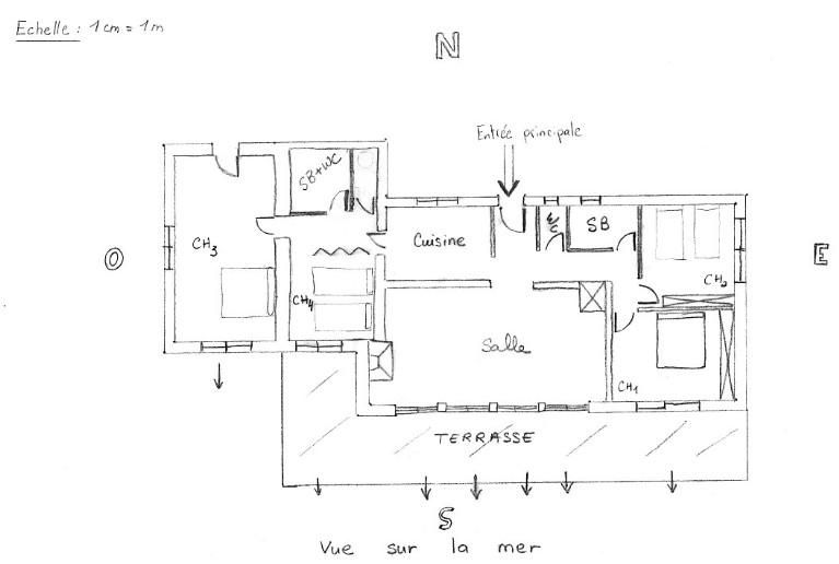 Descriptif villa bord de mer avec vue sur la plage de palombaggia - Plan de maison bord de mer ...